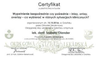 Izabela Olender IMED inlay onlay