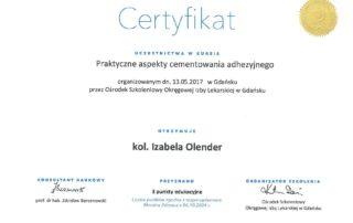 Izabela Olender IMED protetyka cementowanie