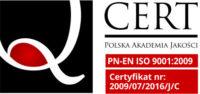 zdjęcie certyfikat jakości IMED