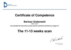 Certyfikat FMF Bartosz Grabowski Rumia
